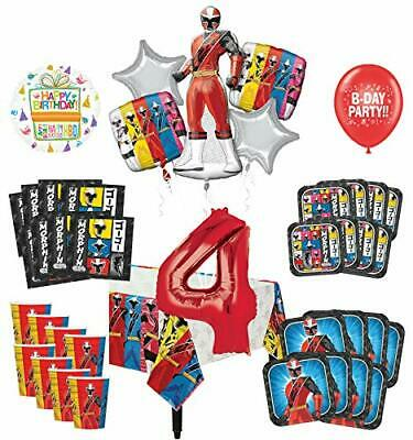 Power Ranger Decorations (Mayflower Products Power Rangers 4th Birthday Party Supplies 8 Guest)