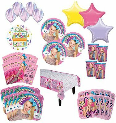 JoJo Siwa Birthday Party Supplies 16 Guest Kit and Balloon Bouquet Decorations - Balloons And Parties