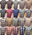 Plaids & Checks Short Sleeve Dress Shirts for Men