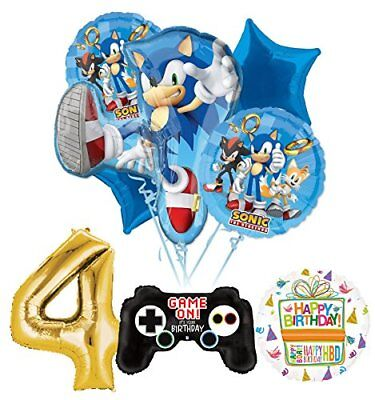 The Ultimate Sonic The Hedgehog 4th Birthday Party Supplies