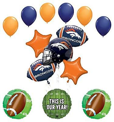 Mayflower Products Denver Broncos Football Party Supplies  Balloon