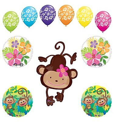 plies Birthday or Baby Shower Girl Monkey Love Jungle  (Monkey Love Party Supplies)