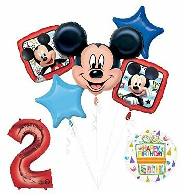 NEW Mickey Mouse 2nd Birthday Party Supplies Balloon Bouquet Decorations - Mickey Mouse 2nd Birthday Party Supplies