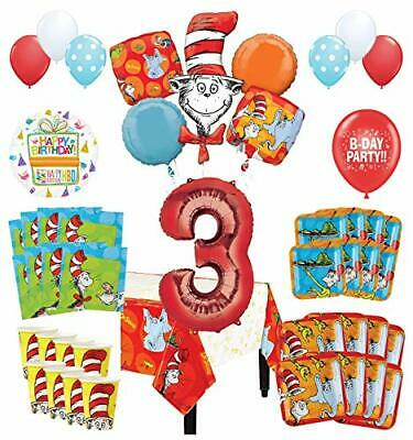 Mayflower Products Dr Seuss 3rd Birthday Party Supplies 8 Guest Decoration Kit ](Dr Seuss Birthday Supplies)