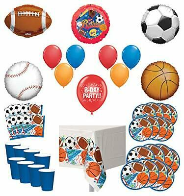 Mayflower Products Sports Theme Party Supplies 8 Guest Entertainment kit and ... - Sports Theme Party Supplies