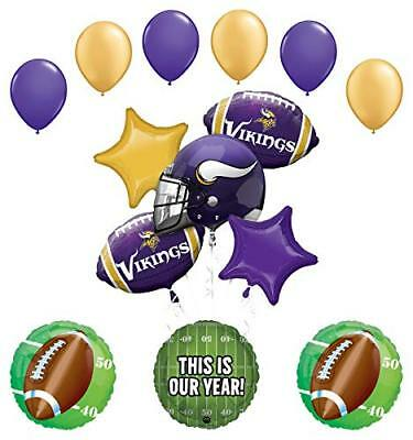 Minnesota Vikings Party Supplies (Mayflower Products Minnesota Vikings Football Party Supplies  Balloon)