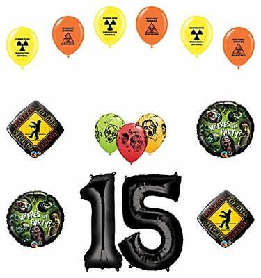 Zombie Birthday Party Supplies (Mayflower Products Zombies 15th Birthday Party Supplies Walking Dead Balloon)