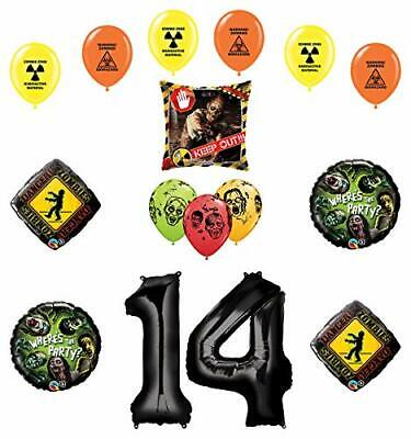 Zombie Birthday Party Supplies (Mayflower Products Zombies Party Supplies 14th Birthday The Walking Dead)