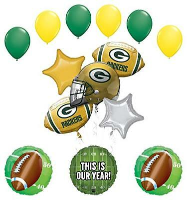 Mayflower Products Green Bay Packers Football Party Supplies  Balloon  (Packer Party Supplies)