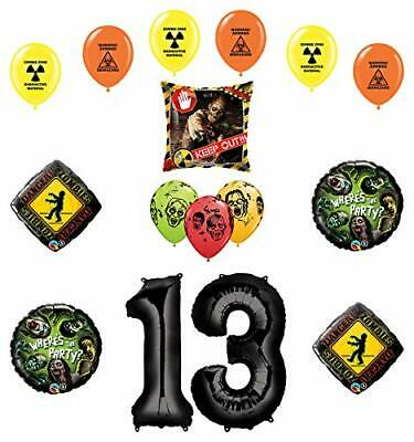 Zombie Birthday Party Supplies (Mayflower Products Zombies Party Supplies 13th Birthday The Walking Dead)