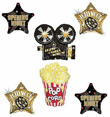 Movie Night Party Supplies Balloon Bouquet Decorations Hollywood Oscars Light...](Oscar Night Decorations)