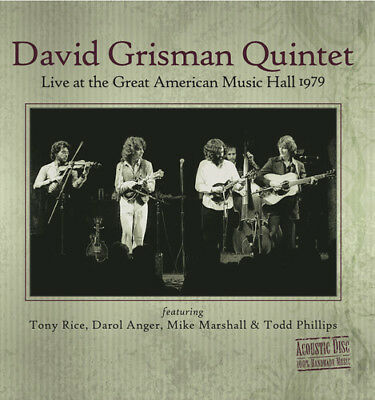 David Grisman - Live At The Great American Music Hall 1979 [New CD] ()
