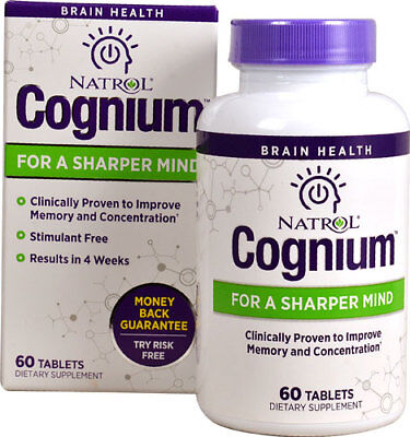 Natrol Cognium Clinically Proven to Improve Memory& Concentration 60 Tablets4/19