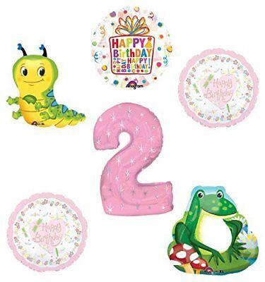 Caterpillar Birthday Party Supplies (Garden Tea Party Dragonfly Caterpillar Frog 2nd Birthday Party Supplies )
