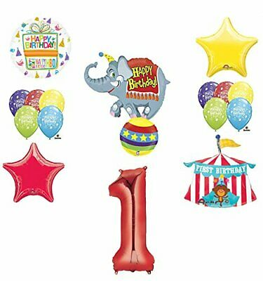Circus 1st Birthday Party Supplies and Balloon Bouquet Decorations - 1st Birthday Circus Party Supplies
