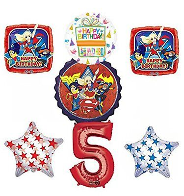 DC Super Hero Girls 5th Birthday Party Supplies and Balloon Decorations - Super Hero Supplies