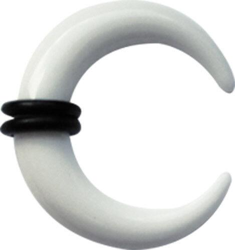 Piercing Schmuck Expander Acryl Dehn Spitze schwarz-weiß in 1,6mm 10mm Stärke