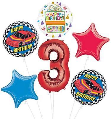 Race Car Birthday Party Supplies (Race Car 3rd Birthday Party Supplies Stock Car Balloon Bouquet)