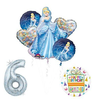 Cinderella 6th birthday party supplies and princess balloon - Cinderella Birthday Supplies
