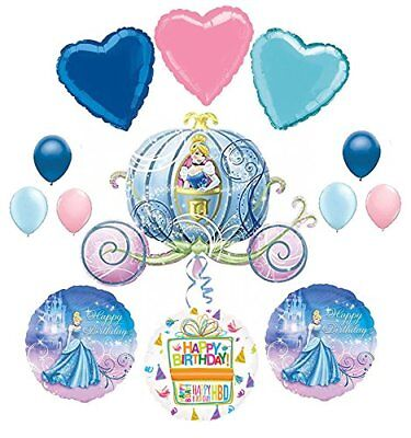 Cinderella Birthday Party Supplies and Carriage Balloon Bouquet - Cinderella Birthday Supplies