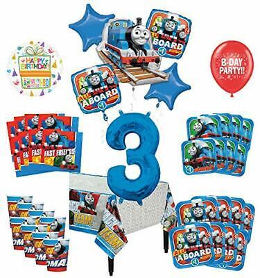 Mayflower Products Thomas The Train Tank Engine 3rd Birthday Party Supplies - Thomas The Tank Birthday