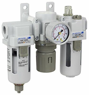 Pneumaticplus Air Filter Regulator Lubricator 38 Npt 250 Psi Sau300-n03g