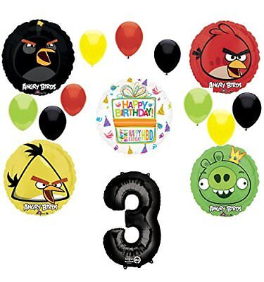 Angry Birds Party Supplies 3rd Birthday Balloon Bouquet Decorations