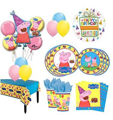The Ultimate 8 Guest 53pc Peppa Pig Birthday Party Supplies  - Peppa The Pig Party Supplies