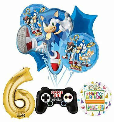 The Ultimate Sonic The Hedgehog 6th Birthday Party Supplies  - Sonic Birthday