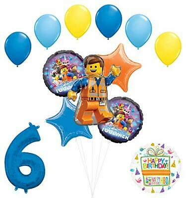 LEGO Movie Party Supplies 6th Birthday Balloon Bouquet Decorations