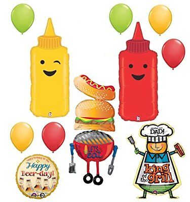 Fathers Day Dads Birthday Party Supplies BBQ Balloon decorations - Fathers Day Decorations