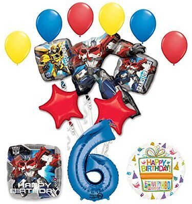 The Ultimate Transformers 6th Birthday Party Supplies and Balloon Decorations](Transformers Party Decorations)