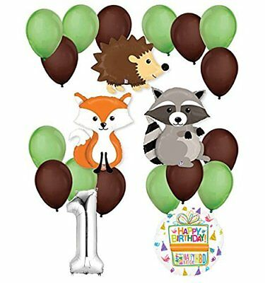 Woodland Critters Creatures 1st Birthday Party Supplies
