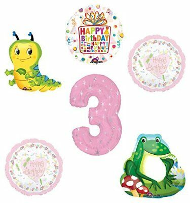 Caterpillar Birthday Party Supplies (Garden Tea Party Dragonfly Caterpillar Frog 3rd Birthday Party Supplies )