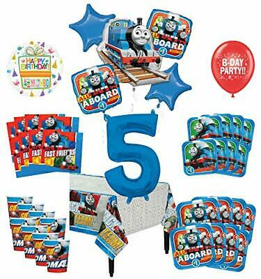 Mayflower Products Thomas The Train Tank Engine 5th Birthday Party Supplies