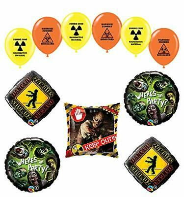 Mayflower Products Zombies Birthday Party Supplies The Walking Dead Balloon - Zombie Party Supplies