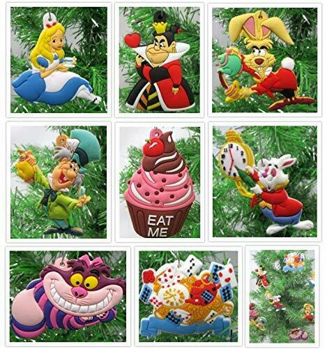 Alice in Wonderland Christmas Ornaments Cheshire, Mad Hatter, Rabbit, March Hare