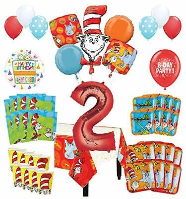 Mayflower Products Dr Seuss 2nd Birthday Party Supplies 16 Guest Decoration Kit](Dr Seuss Birthday Supplies)