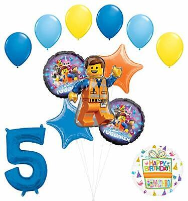 LEGO Movie Party Supplies 5th Birthday Balloon Bouquet Decorations