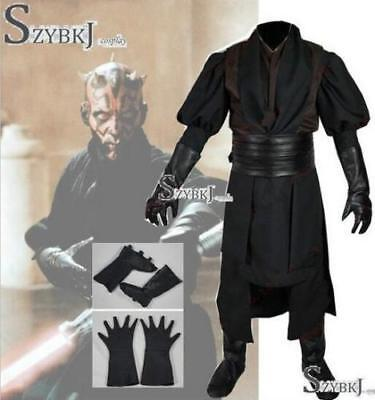 Star Wars Sith Dark Lord Darth Maul Cosplay Costume Tunic Outfit Suit//58 (Sith Outfit)