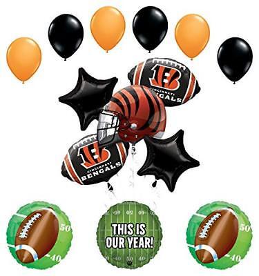 Mayflower Products Cincinnati Bengals Football Party Supplies  Balloon - Bengals Party Supplies