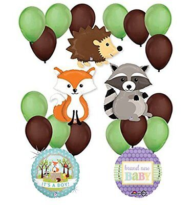 Woodland Critters Creatures Baby Boy Baby Shower Party Supplies  ](Baby Boy Supplies)