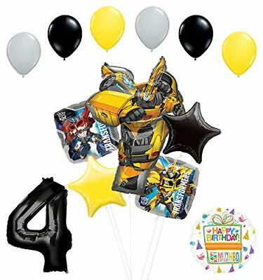 Transformers Mayflower Products Bumblebee 4th Birthday Party Supplies Balloon  - Transformers Birthday