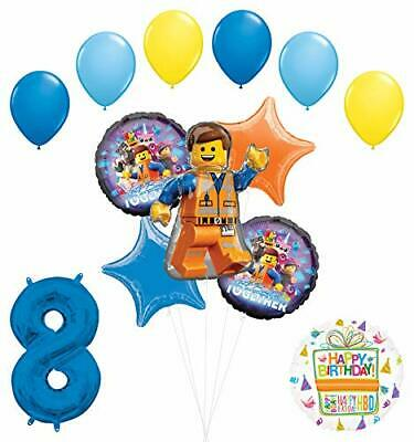 LEGO Movie Party Supplies 8th Birthday Balloon Bouquet Decorations](Lego Balloons)
