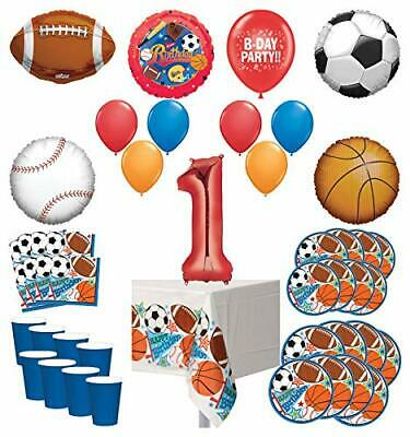 Mayflower Products Sports Theme 1st Birthday Party Supplies 8 Guest Entertain... - 1st Party Themes