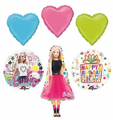 Barbie Birthday Party Supplies and Dream With Style Balloon Bouquet - Barbie Balloons