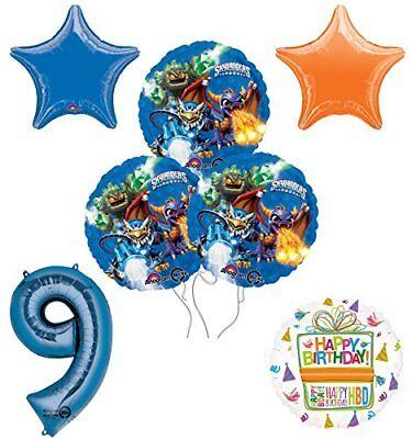 Skylander Birthday Party (Skylanders 9th Birthday Party Supplies and Balloon Decoration Bouquet)