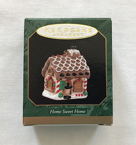 1997 Home Sweet Home ~ Gingerbread House ~ Hallmark Miniature Ornament