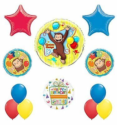Curious George Birthday Party Supplies Balloon Bouquet Decorations - Curious George Birthday Party Decorations