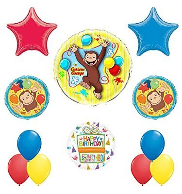Curious George Birthday Party Supplies Balloon Bouquet Decorations